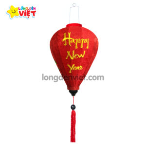Lồng đèn thêu Happy New Yeara